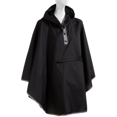 totes Lined Rain Poncho open view