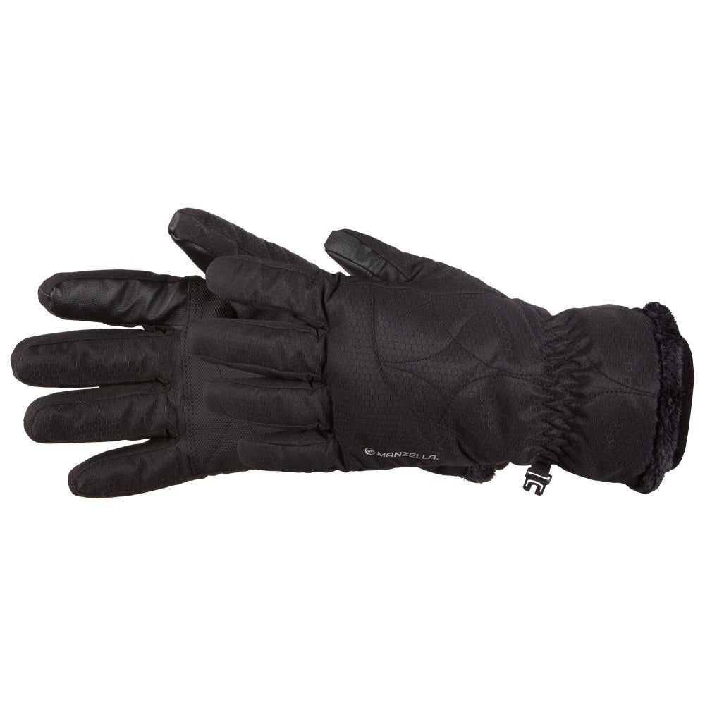Manzella Women's Morgan Outdoor Gloves in Black On Side Profile