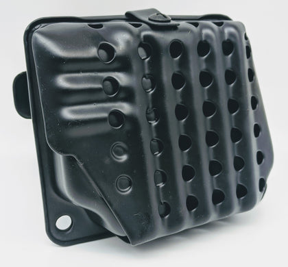 THE DUKE'S MUFFLER WITH SPARK SCREEN FITS STIHL 038 MS380 1119 007 1027 - www.SawSalvage.co Traverse Creek Inc.