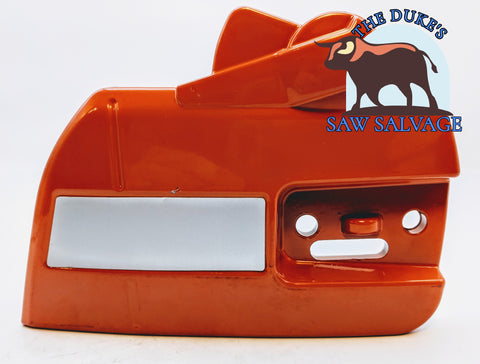 DUKE'S CLUTCH SIDE BRAKE COVER FITS HUSQVARNA 340 345 346 350 353 357 359 - www.SawSalvage.co Traverse Creek Inc.