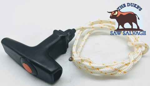 THE DUKE'S STARTER PULL ROPE WITH HANDLE FITS HUSQVARNA STIHL 3MM - www.SawSalvage.co Traverse Creek Inc.