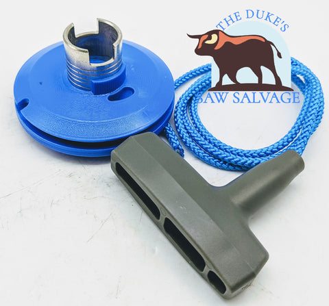 THE DUKE'S STARTER PULLEY AND ROPE FITS HUSQVARNA K750 K760 K650 K960 K970 - www.SawSalvage.co Traverse Creek Inc.