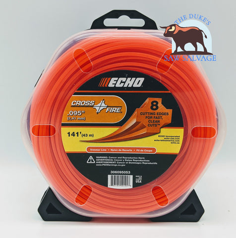 GENUINE ECHO CROSSFIRE TRIMMER LINE .095 1/2LB PACKAGE - www.SawSalvage.co Traverse Creek Inc.