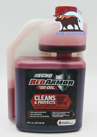 ECHO RED ARMOR TWO STROKE OIL 16OZ SQUEEZE BOTTLE - www.SawSalvage.co Traverse Creek Inc.