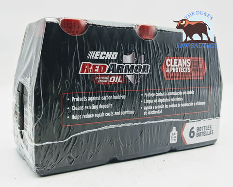 ECHO RED ARMOR 6 PACK 1 GALLON MIX 2.6OZ BOTTLES - www.SawSalvage.co Traverse Creek Inc.