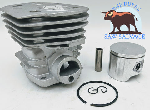 THE DUKE'S CHROME PISTON AND CYLINDER FITS HUSQVARNA 350 351 353 44MM - www.SawSalvage.co Traverse Creek Inc.
