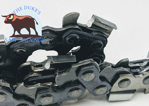 "CARLTON CHAINSAW SEMI-CHISEL CHAIN LOOP 20"" .325 .063 81DL MADE IN USA - www.SawSalvage.co Traverse Creek Inc."