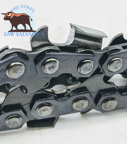 "CARLTON CHAINSAW CHISEL CHAIN LOOP 18"" .375 .050 66DL MADE IN USA - www.SawSalvage.co Traverse Creek Inc."