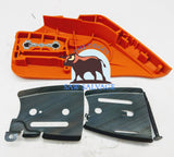 GENUINE ECHO CS-590 TIMBERWOLF CLUTCH SIDE SPROCKET COVER WITH BAR PLATES - www.SawSalvage.co Traverse Creek Inc.