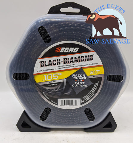 GENUINE ECHO BLACK DIAMOND TRIMMER LINE .105 1LB PKG 217 FEET - www.SawSalvage.co Traverse Creek Inc.