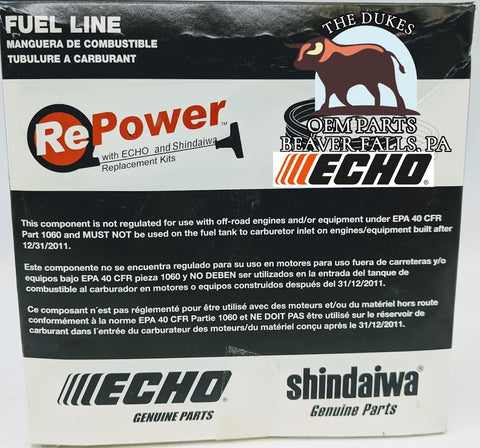 GENUINE ECHO BLACK FUEL LINE 3MMx6MM 90015 25FT BULK