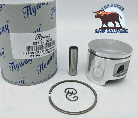 HYWAY HIGH COMPRESSION POP-UP PISTON FITS HUSQVARNA 353 45MM