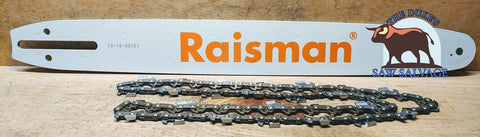 RAISMAN BAR AND CHAIN COMBO 20 IN .325 .050 78DL SMALL HUSQVARNA MOUNT - www.SawSalvage.co Traverse Creek Inc.