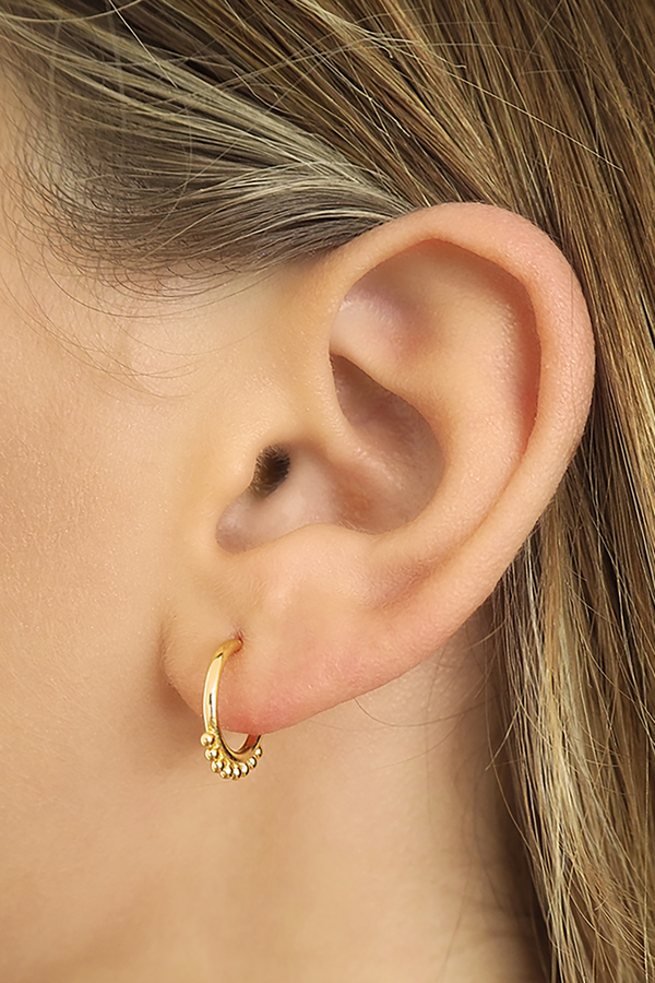 By Charlotte Rose Gold Cherish Hoop Earrings