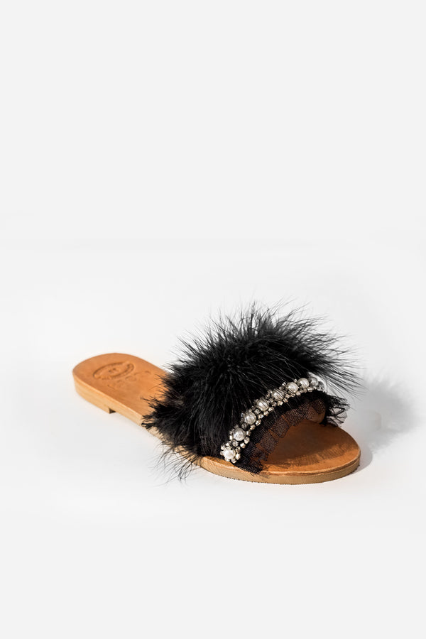 "Goupi ""Evelyn"" Slides Black"
