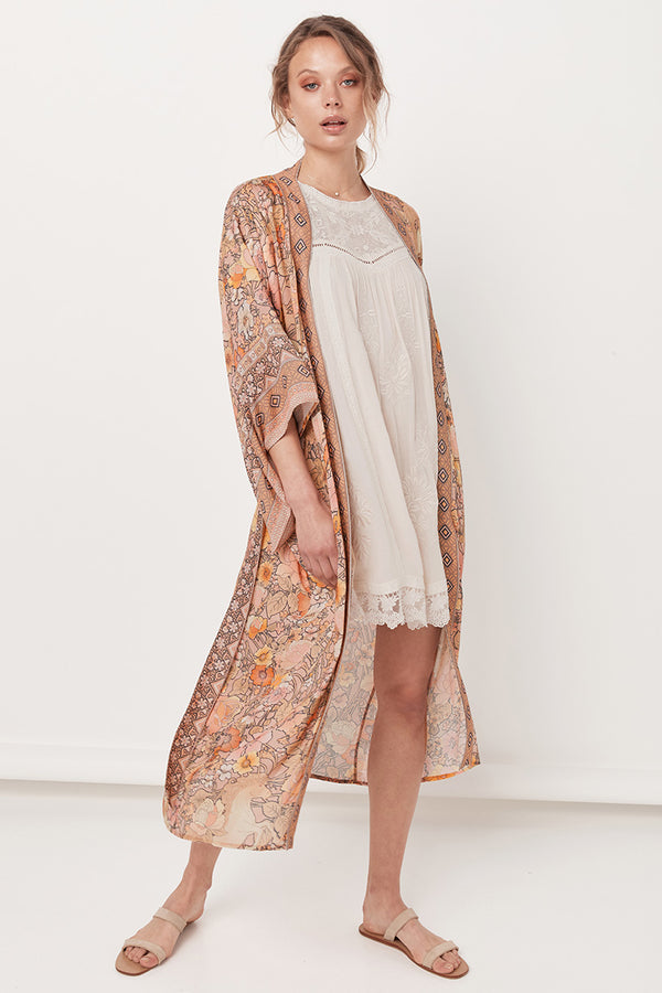 Spell and the Gypsy Collective Amethyst Blush Maxi Kimono