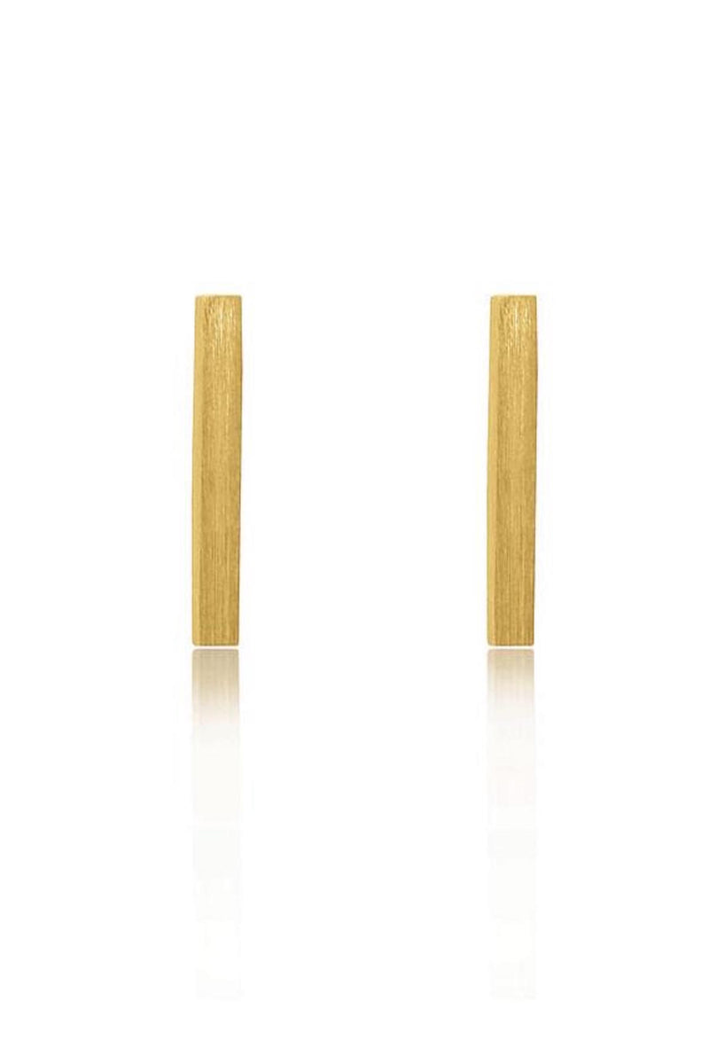 Linda Tahija Bar Stud Earrings Yellow Gold Plated Sterling Silver