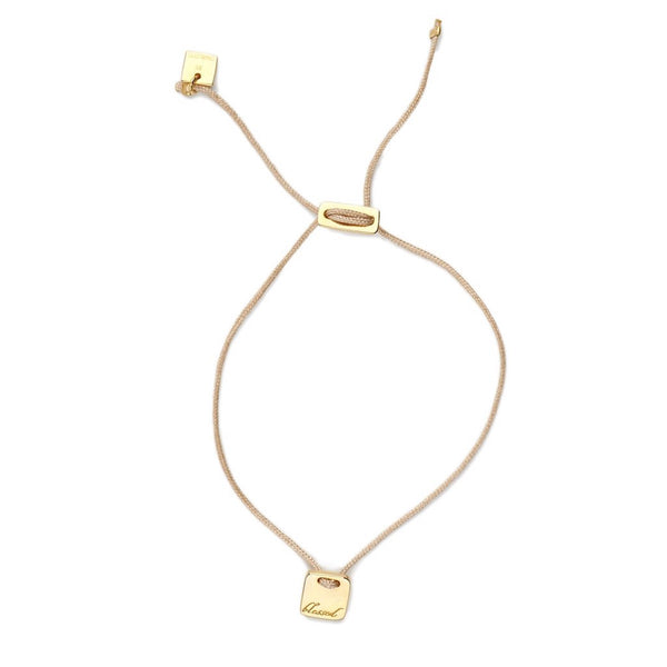 By Charlotte Gold Tan Blessed Bracelet