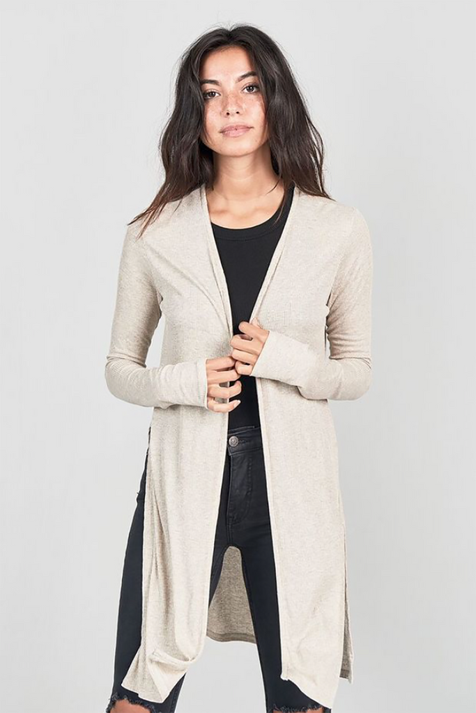 Joah Brown Luna Cardigan Oatmeal Rib