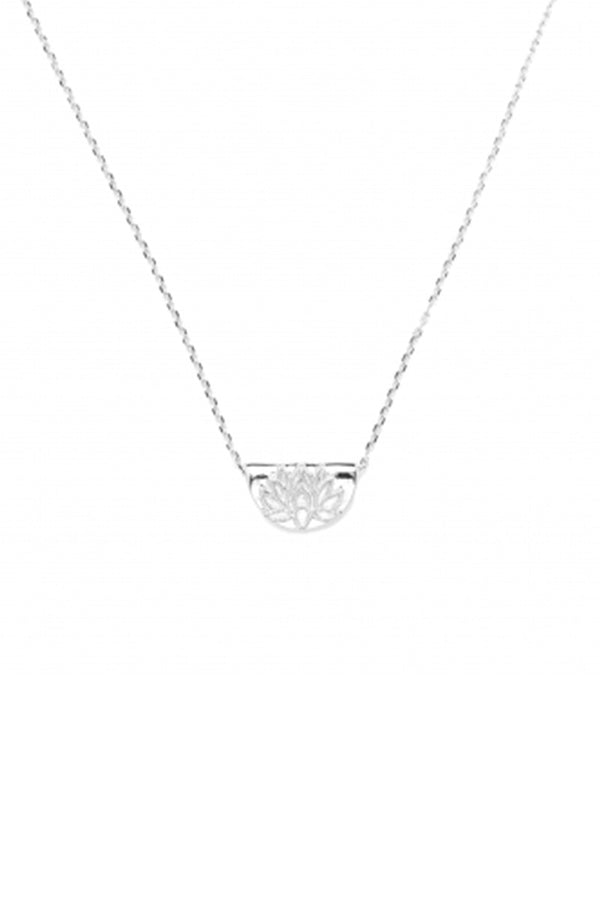 "By Charlotte ""Mini Lotus Necklace"" 14kt white gold"