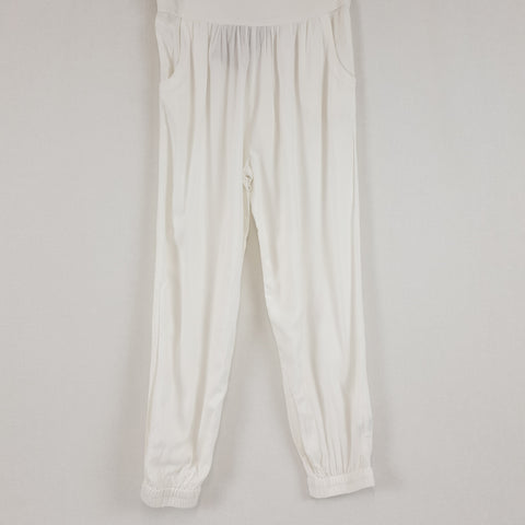 TREE OF LIFE White Rayon Harem Pants BNWT Womens Size M