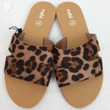 RUBI Leopard Print Slides 'As new' Womens Size 37