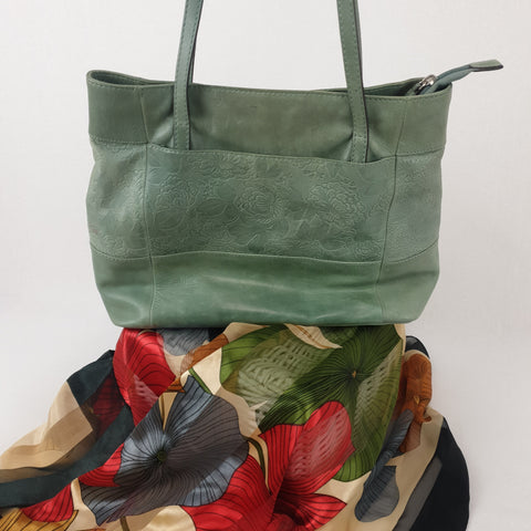 COLORADO Leather Mint Green Handbag Womens Accessory RRP $199