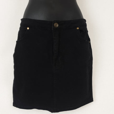 REILEY Denim BNWT Black Denim Skirt Girls Size 14 RRP $55