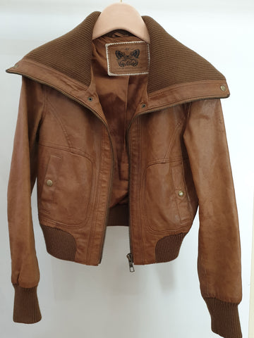 New Look Leather Womens Jacket Size 12