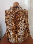 """Trendy"" Hot Options Womens Faux Fur Sleveless Jacket Size L"