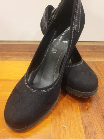 Tamaris Leather Womens Shoes Size 40