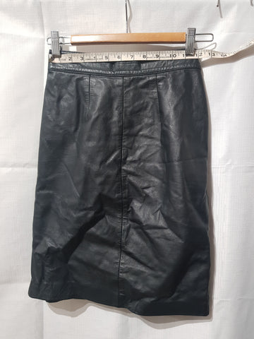 Genuine Leather Black Skirt Made In Australia Size 10