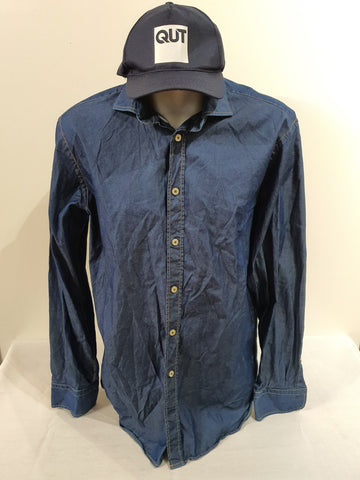 Herringbone Sydney Denim Mens Top Size S