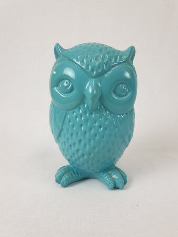 Aqua Ceramic Owl Ornament Homewares