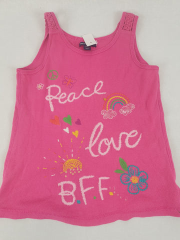 Gap Kids 'Peace Love BFF' Singlet Girls Size 12 - 13 Years