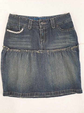 'Vintage Style' Old School Roxy Denim Skirt Womens Size 10