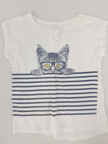 Cat Tee Girls Size 8