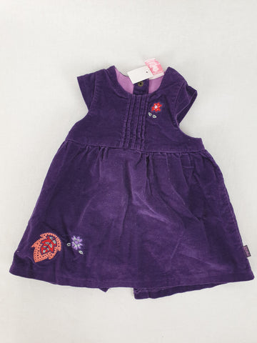 Pumpkin Patch Purple Velvet Dress Girls 3-6 Months