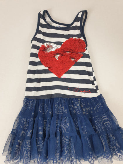 Desigual Kids Designer Dress Girls Size 5 - 6