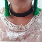 Black Choker Necklace Womens Accessory