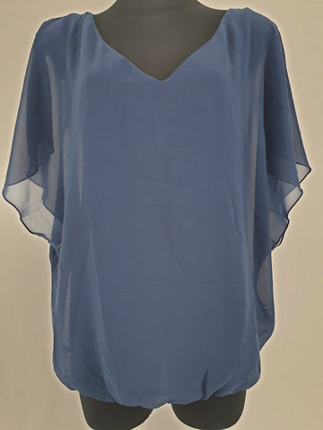ESPIRIT Navy Blouse Womens Size 16 RRP $89 *Reduced*