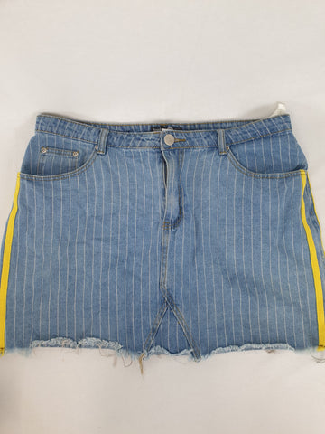 BOOHOO BLUE Denim Skirt Womens Size 16