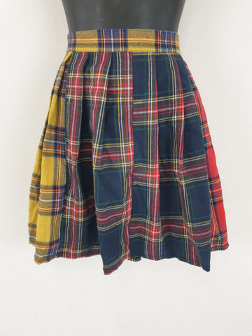 SHEIN Tartan Pleated Skirt Womens Size L