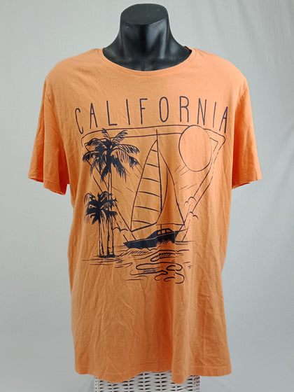 MANTARAY California Tee Orange Mens Size XXL