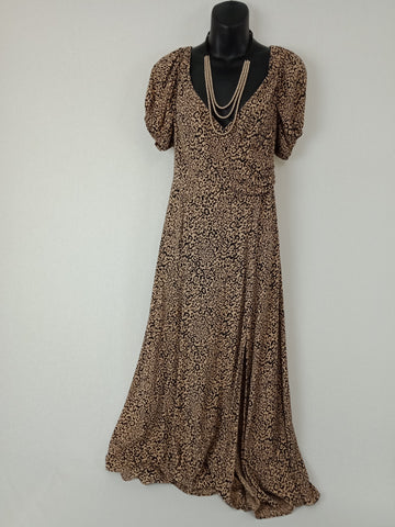 SEED Leopard Print Dress Womens Size 10 RRP $99+