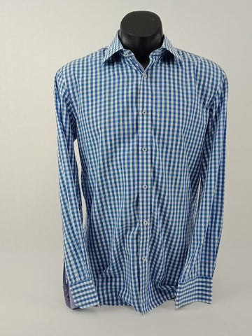 Flinders Lane Check Shirt Mens Size 38/39