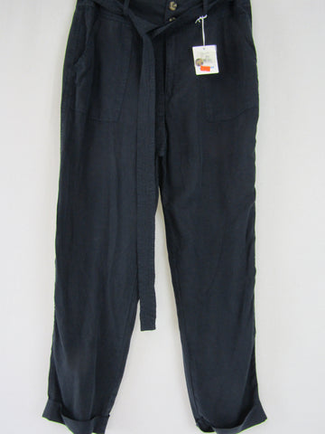 JUST JEANS Navy Lyocell Pants BNWT Womens Size 12 RRP $89.95