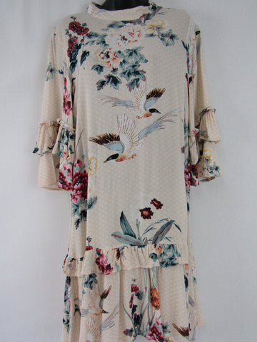 LABEL OF LOVE Floral Autumn Dress Womens Size 8