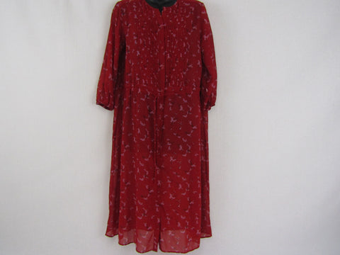 UNIQLO Red Blossom Dress Womens Size XS