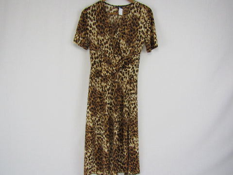 'Y' Vintage Animal Print Dress {Made in Australia} Womens Size 10